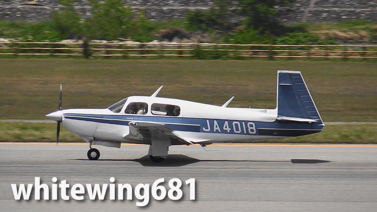Mooney M20 JA4018 LANDING TOYAMA Airport 富山空港 2015.5.6 ...