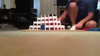 How I made the domino pyramid