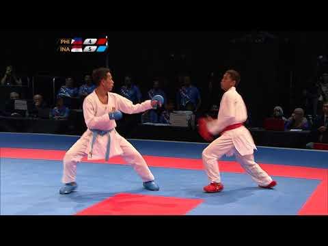 KL2017 29th SEA Games | Karate - Men's Kumite ↓55kg FINALS - 🇵🇭 PHI vs 🇮🇩 INA | 23/08/2017