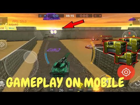 TANKI ONLINE - GAMEPLAY ON MOBILE + GOLDS, CONTAINERS!