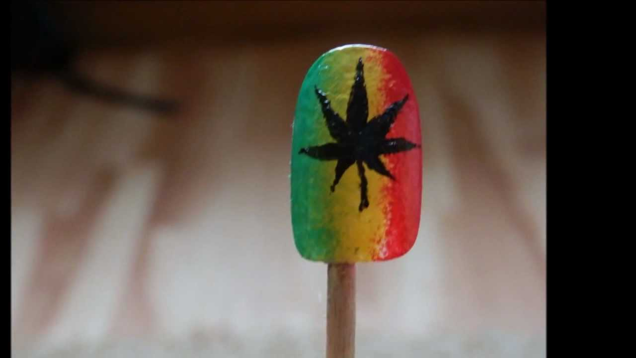Cannabis (Marijuana) leaf nails / Marihuanové nehty - YouTube