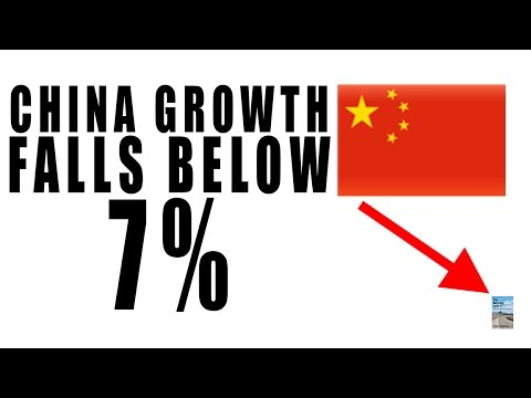 China Growth Falls Below 7% Again for 25 Year Low! Will China CRASH?
