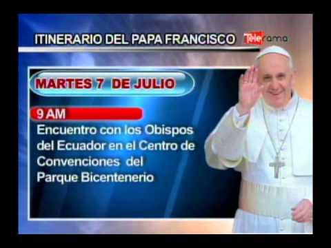 Itinerario del Papa Francisco