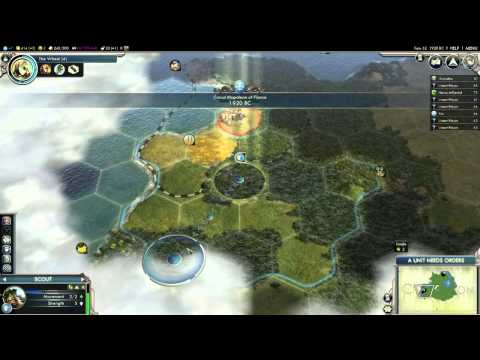 Civilization V: Gods & Kings Gameplay - France in the Ancient Era (Part 1)