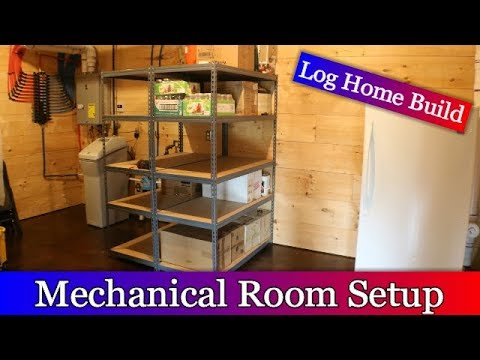 Log Home Build Episode #29 - Mechanical Room with Generator Inlet