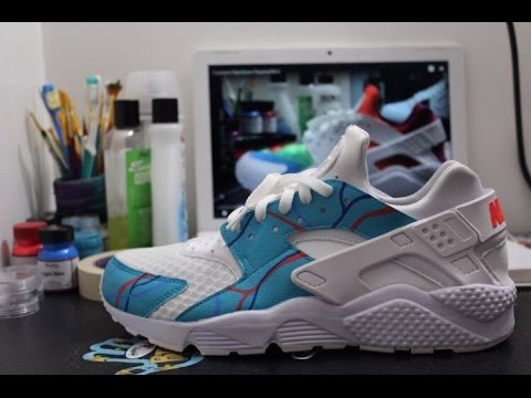 5caf7bdac02 Custom Not Tiffany Blue Huaraches - YouTube