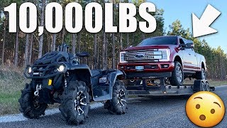 CAN IT PULL IT?!! CANAM OUTLANDER 1000 XMR TAKES ON 10,000lb LOAD!!