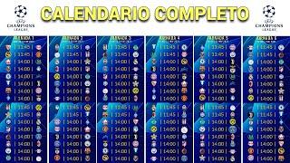 CALENDARIO COMPLETO de la CHAMPIONS LEAGUE 2021/2022
