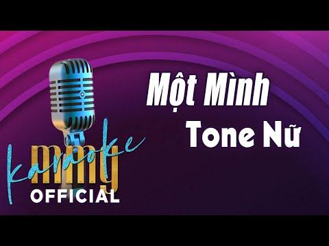 Một Mình (Karaoke Tone Nữ) | Hát với MMG Band