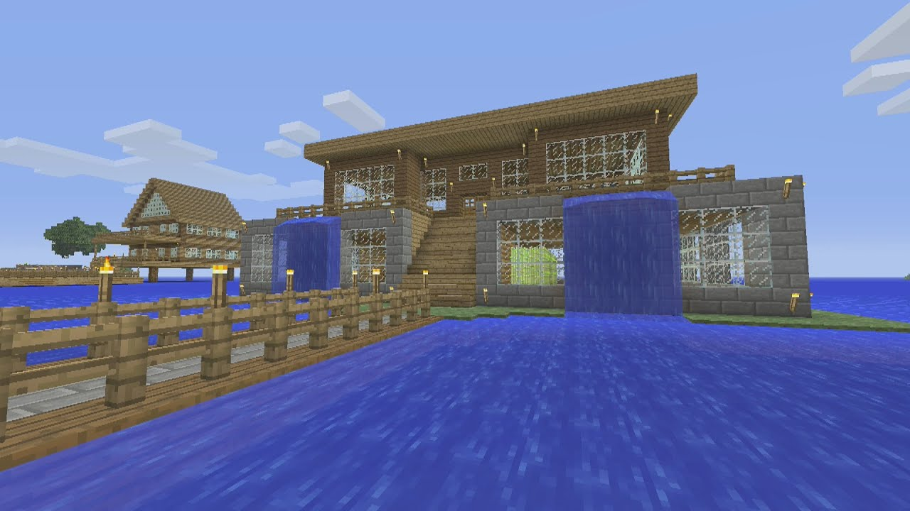 awesome house designs minecraft tutorial. Minecraft Tutorial  How To Make An Awesome Waterfall Survival House ASH 7 YouTube