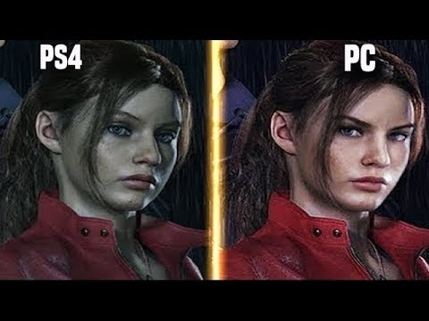 Resident Evil 2 Remake PS4 Pro vs PC ( 4K ) Early Graphics Comparison