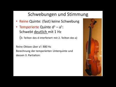 Das Phänomen Schwebung und seine Anwendung in der Musik