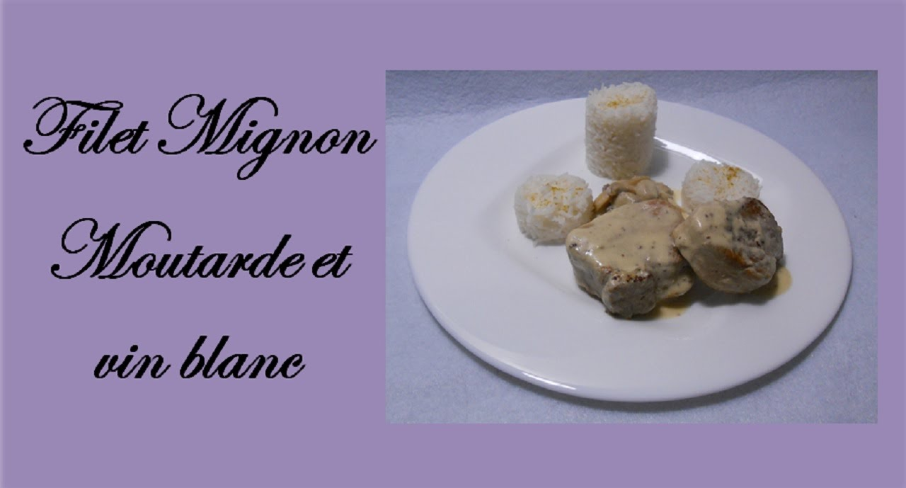 filet mignon de porc la moutarde et au vin blanc youtube. Black Bedroom Furniture Sets. Home Design Ideas