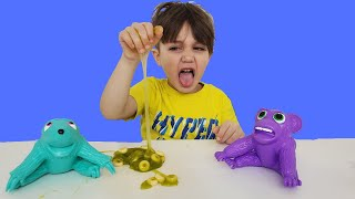 Playing with my new Toys and Slime for kids