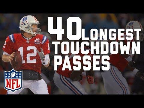 Tom Brady's 40 Longest Touchdown Passes | NFL Highlights