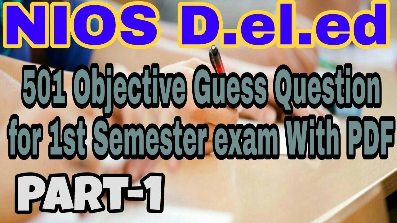 501 objective guess question For 1st Semester in English
