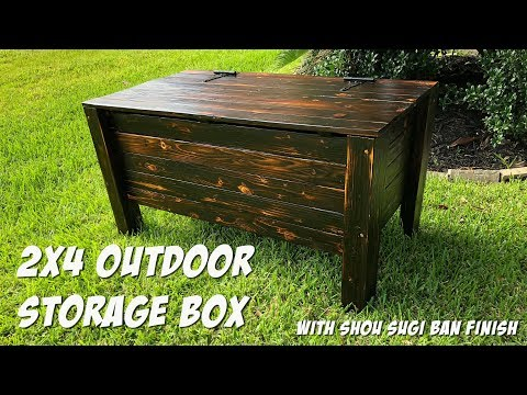 DIY Outdoor Storage Box out of 2X4s - Shou Sugi Ban Finish