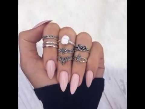 Наращивание ногтей миндальной формы