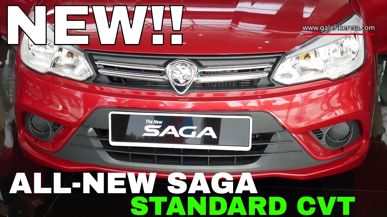 All-New Proton Saga 2016 Standard CVT - Fire Red Exterior and ...