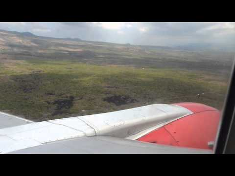 Landing at Moroni International Airport. Iles Comores.