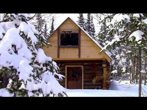 Simple Log Cabin- Built for $500- No Permit Required