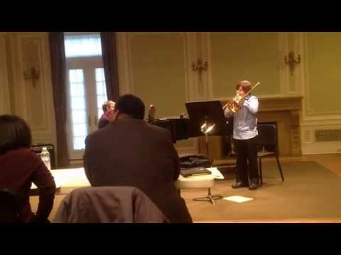 Noah scholarship audition the Cleveland Music School Settlement 3/2014