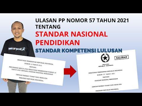 Standar Nasional Pendidikan TERBARU | PP No 57 Tahun 2021 | Standar Kompetensi Lulusan