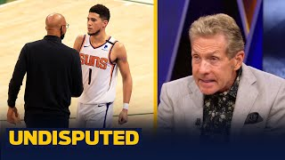 Monty Williams made a bad choice to bench Booker, the pressure is now on — Skip | NBA | UNDISPUTED