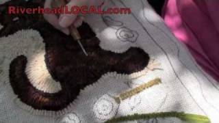 Peconic Ruggers rug-hooking demonstration