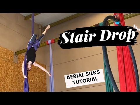 Aerial Silks Stair Drop Tutorial | Telas Aéreas Tutorial