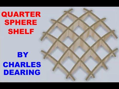 Quarter-sphere shelf - jigsaw, scroll saw and belt sander