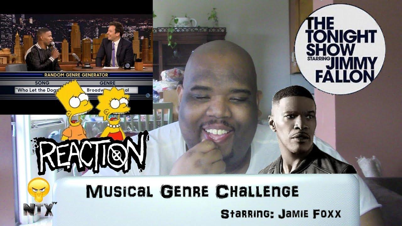 Musical Genre Challenge Starring: Jamie Foxx - Reaction