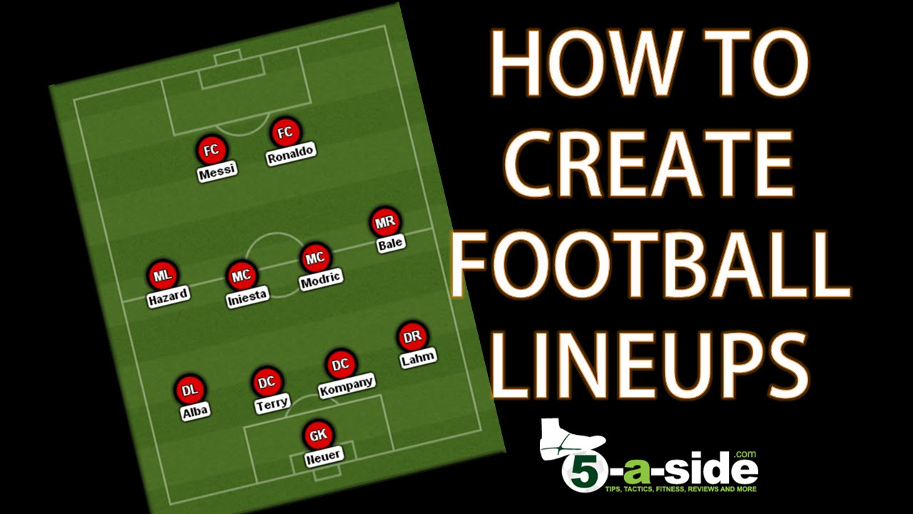 how to create football lineups    formations
