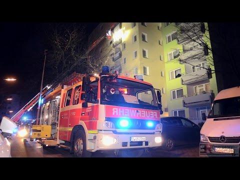 [KÜCHENBRAND IM 6. OBERGESCHOSS] - Rauchausbreitung im Gebäude ~ Feuerwehr Düsseldorf -