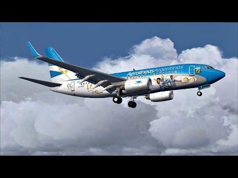 Aerolineas **Vamos Argentina** Boeing 737-700 Throwback Landing @ (AEP) Buenos Aires