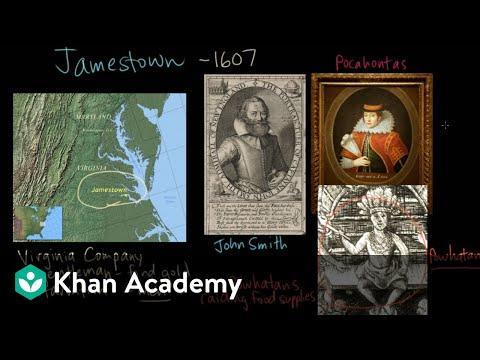 Jamestown - John Smith and Pocahontas