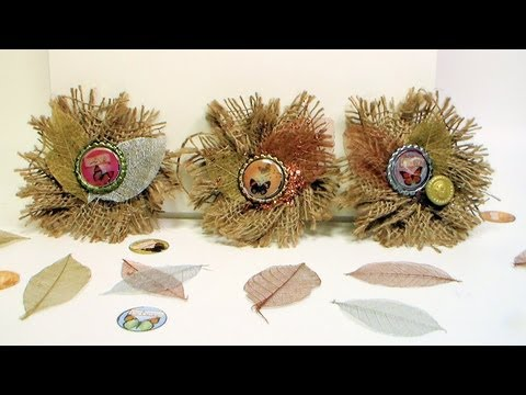 How To Make Burlap Flower Brooches And Barrettes