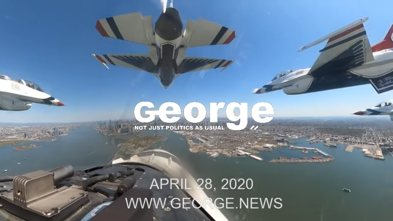 America Strong: New York City Flyover B-Roll, April 28, 2020