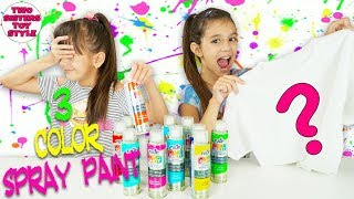 3 COLOR SPRAY PAINT CHALLENGE!!! | Emily and Evelyn