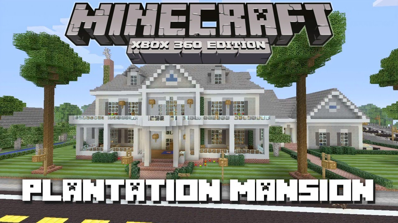 Minecraft xbox 360 huge plantation mansion house tours for Big modern houses on minecraft