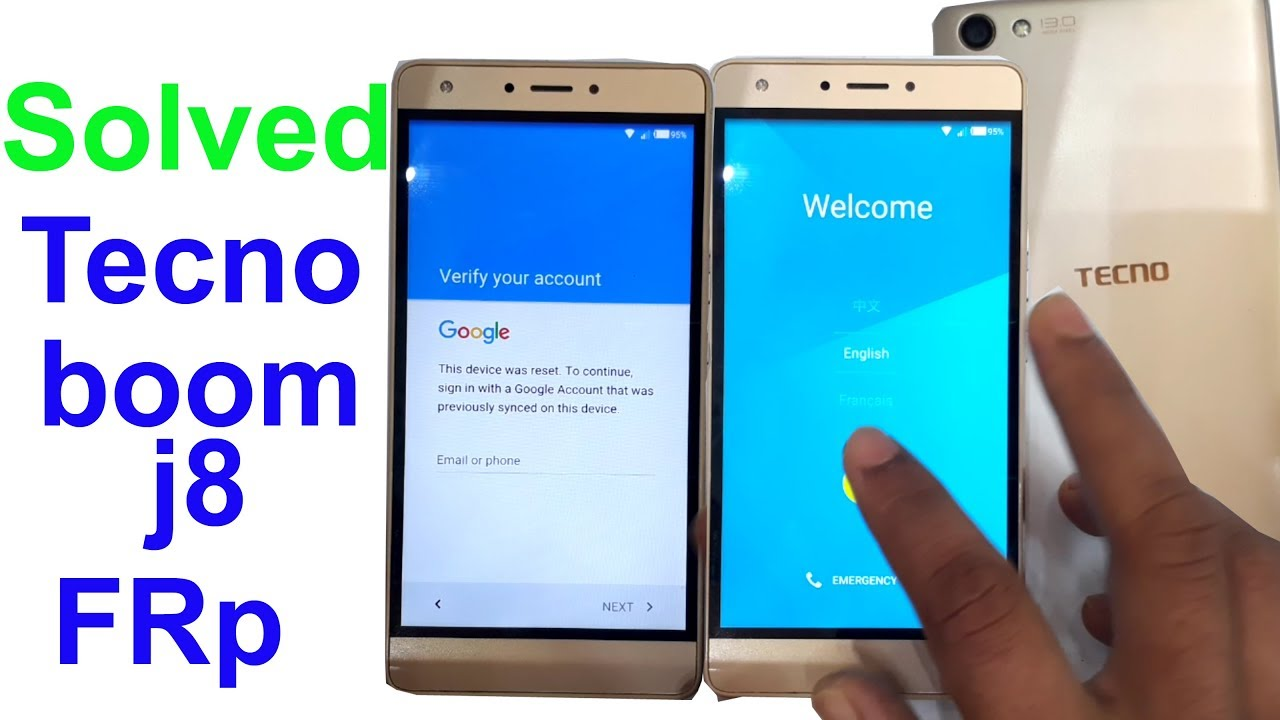 how to bypass google verification on tecno boom j8 without computer