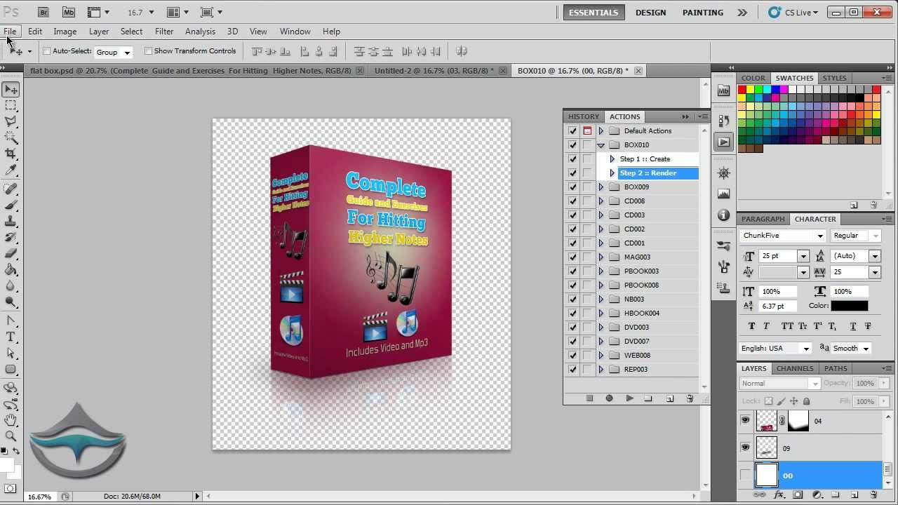 Create actions in Adobe Photoshop