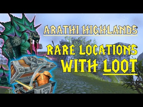 WoW Classic - Rare Mob Locations + UNIQUE LOOT - Arathi Highlands