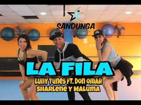 LA FILA - Luny Tunes ft  Don Omar, Sharlene y Maluma #Coreografia Sandunga