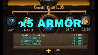 Clash Of Kings : NON-SPENDER GUIDE TO FORGE x5 Armor