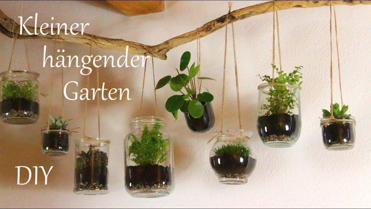 Diy Kleiner Hangender Garten Fur Drinnen Schone Pflanzendeko Fur S Ganze Jahr Just Deko