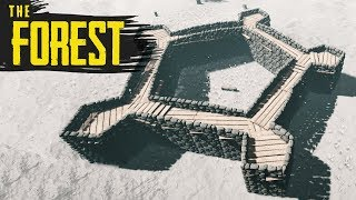 THE FORT IS DONE! The Forest Hard Survival S3 Episode 25
