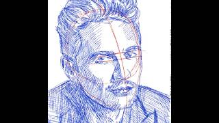 How to draw James Franco