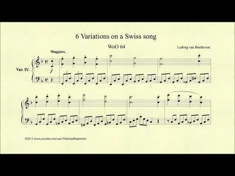 Beethoven, 6 Variations On A Swiss Song, WoO 64, Var. IV