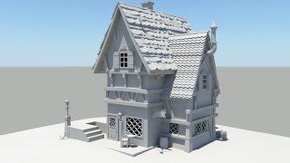 Autodesk Maya 2014 Tutorial Old House Modeling Part 4